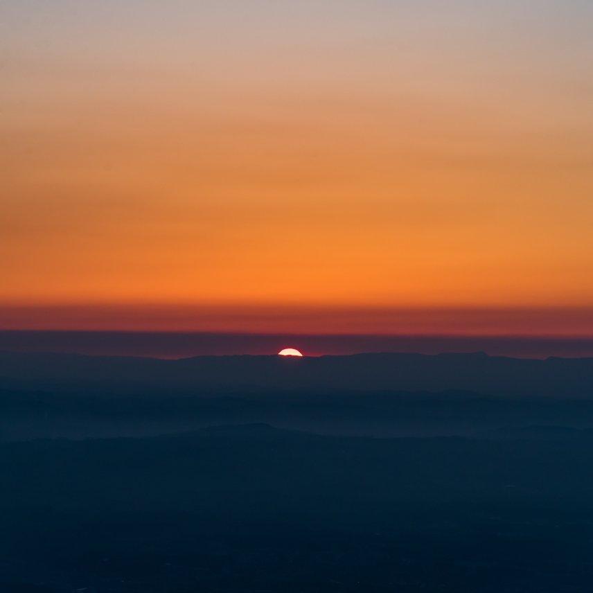 Sunset color gradients