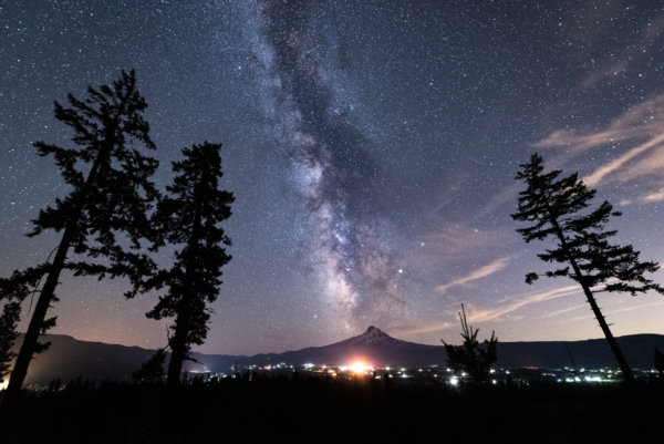 Milky way above mountain