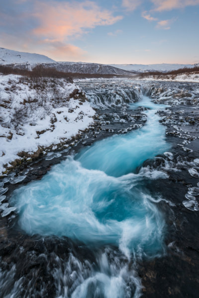 Blue Waterfall in Winter