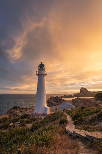 Lighthouse After a Sunset Rain