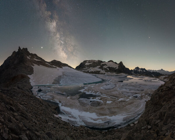 Milky Way Above Glacier Lake